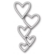 Форма  99661  для Вырубки Classic Stitched Heart Rings