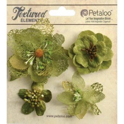 Набор  1256-201  Цветов Mixed Textured Blossoms Petaloo