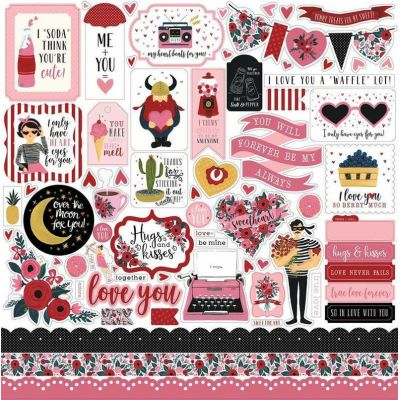 Стикеры  HS78014  Hello Sweetheart Carta Bella