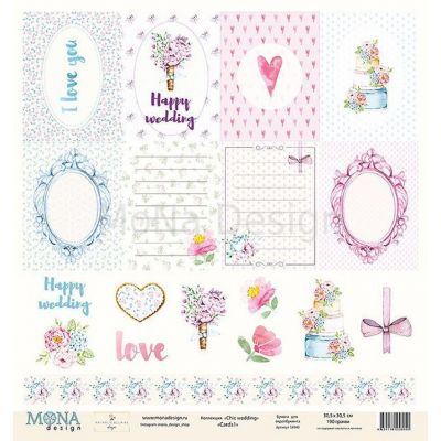 Лист  58940  Cards 1 Chic Wedding